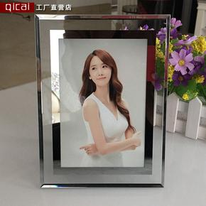 玻璃水晶相框摆台 10寸8寸A4创意婚纱照片框影楼宝宝相架镜框挂墙