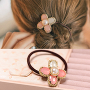 Know tiny fresh Pearl Minnie hair band hair rope cat string capitatum Korea hair accessories hair