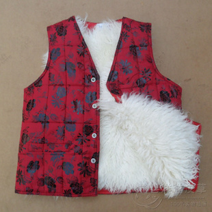 Elderly wool Miss Ma Jia fur really sheepskin waistcoat warm autumn and winter thick cotton vest male models