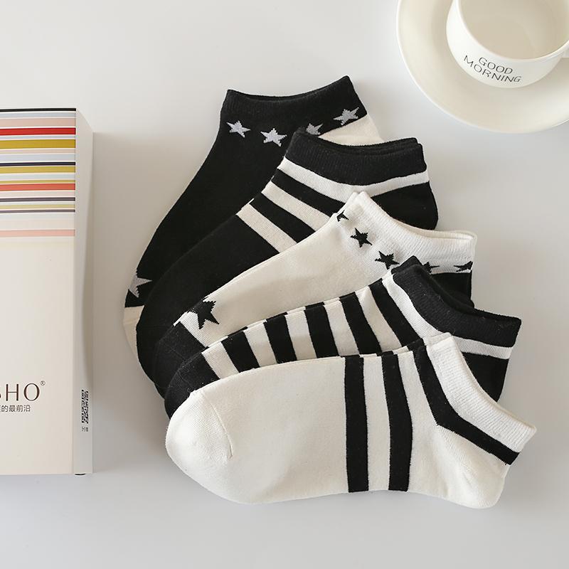 夏天襪子女 短襪女低幫夏 淺口薄款韓國春夏棉襪 女短襪船襪白色