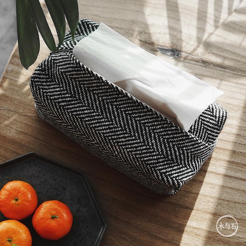 Ткань ткань льняная ткань нордический гостиная насосные папка для альбома чистый черный мешок простой литература и искусство свежий бумажные полотенца крышка домой