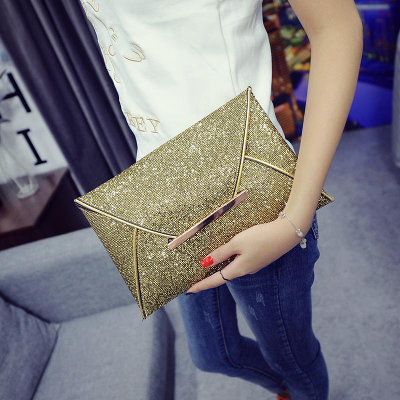 Европа с блестками сумка 2016 новый Корейский моды роскоши косметический мешок руки сумки конверт сумки диких ужин девушка