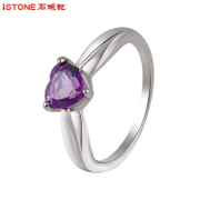 Natural Amethyst stone Garnet ring