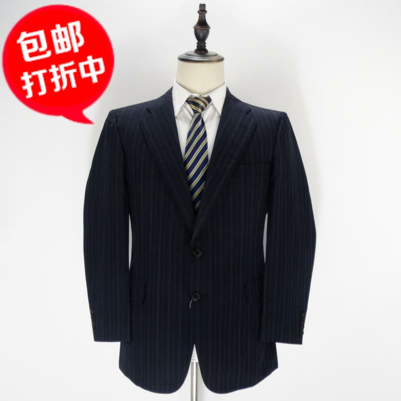 Ancient British brand b black standard business casual suit mens spring and autumn cashmere blended stripe suit coat