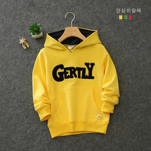 The boy hooded fleece age season Pure cotton children's clothing han edition leisure children sports jacket Baby autumn outfit fleece