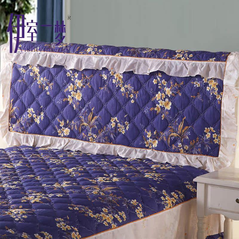 Хлопок кровати покрытия опираться на одеяло стеганый 1.2m1.5m1.8m2 кровать головной убор сгущаться кровать вокруг пылезащитный чехол постельные принадлежности