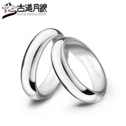 S990 trail month silver sterling silver ring silver pure silver and old silversmiths hand smooth silver ring for men and women couples 148