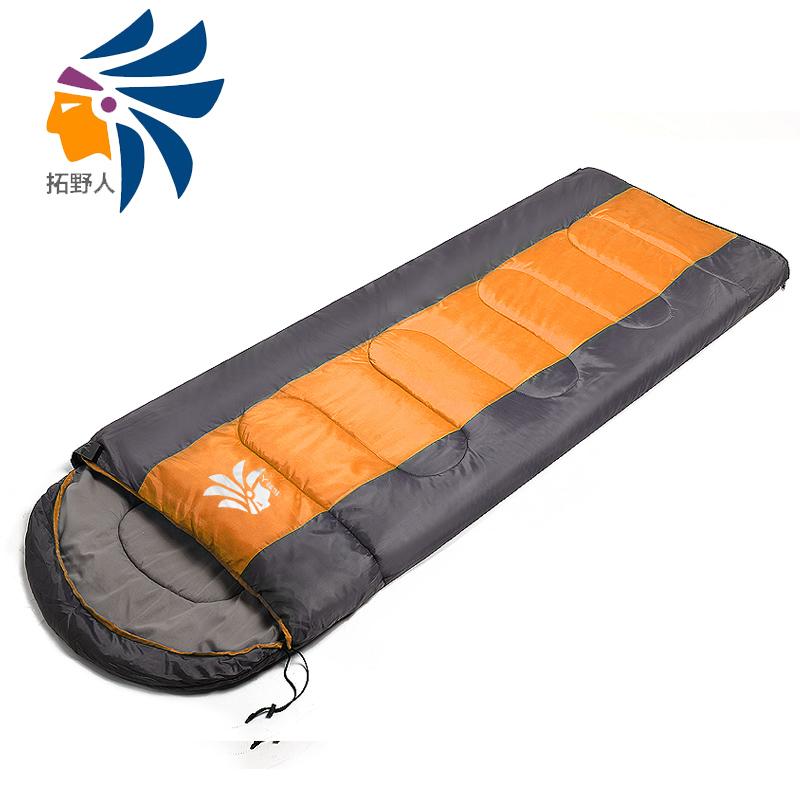 Сэвидж, теплый спальный мешок на открытом воздухе в осенние и зимние сезоны утолщение расширение студентов Сиеста кемпинга ультра легкий портативный взрослого спать сумка