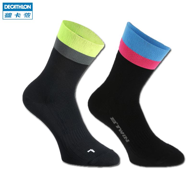 迪卡儂 騎行襪子 透氣快幹耐磨騎行 短襪900 R BTWIN