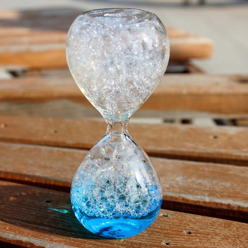 泡泡沙漏计时器气泡沫家居饰品摆件创意礼物女生日液体水儿童油滴