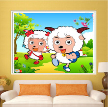 Cloud rubik's cube 5 d diamond child draw cartoon DIY production series pleasant goat point drill drill cross-stitch