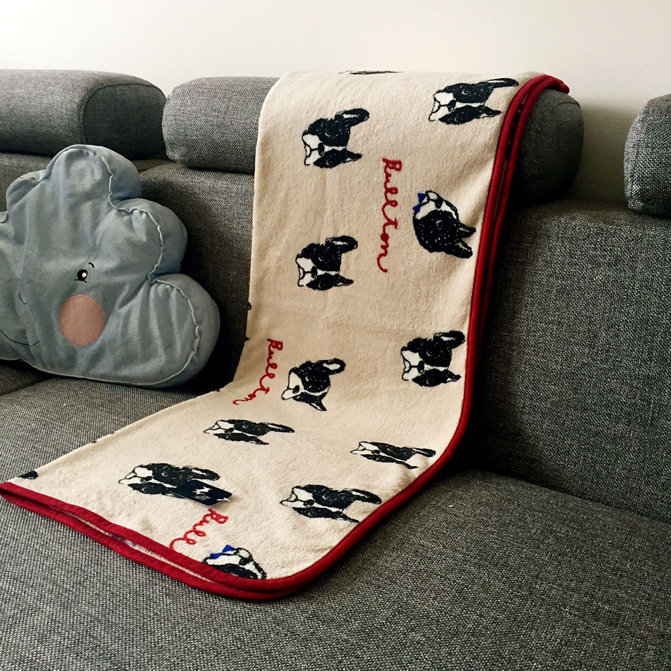日系时尚可爱法莱绒毛毯休闲毯宝宝盖毯办公室膝盖毯子