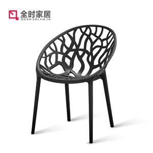 现代简约塑料阳台椅成人书桌椅凳创意个性<span class=H>餐椅</span>宜家时尚靠背椅懒人