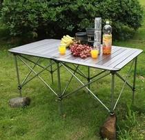 自驾游野营沙滩户外约会超轻铝合金折叠桌tableFolding日本热销