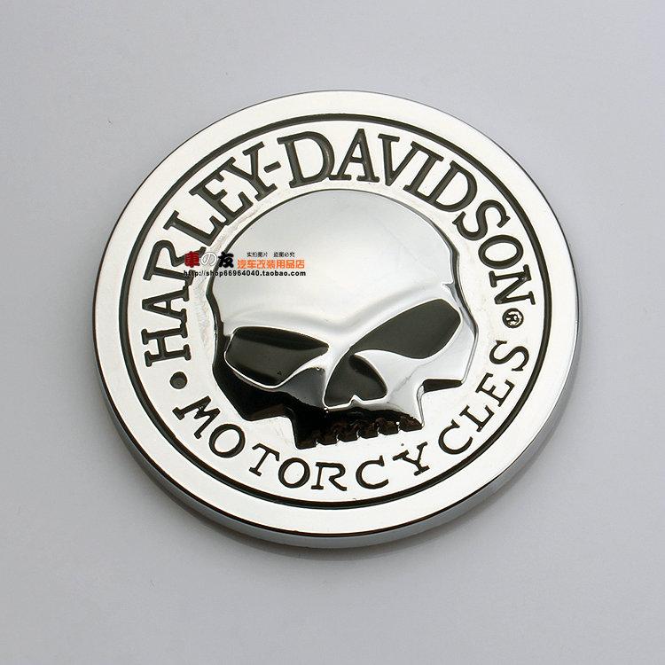 Авто тюнинг череп Harley-Davidson металла автомобиля тела украшения наклейки задней стороне этикетки
