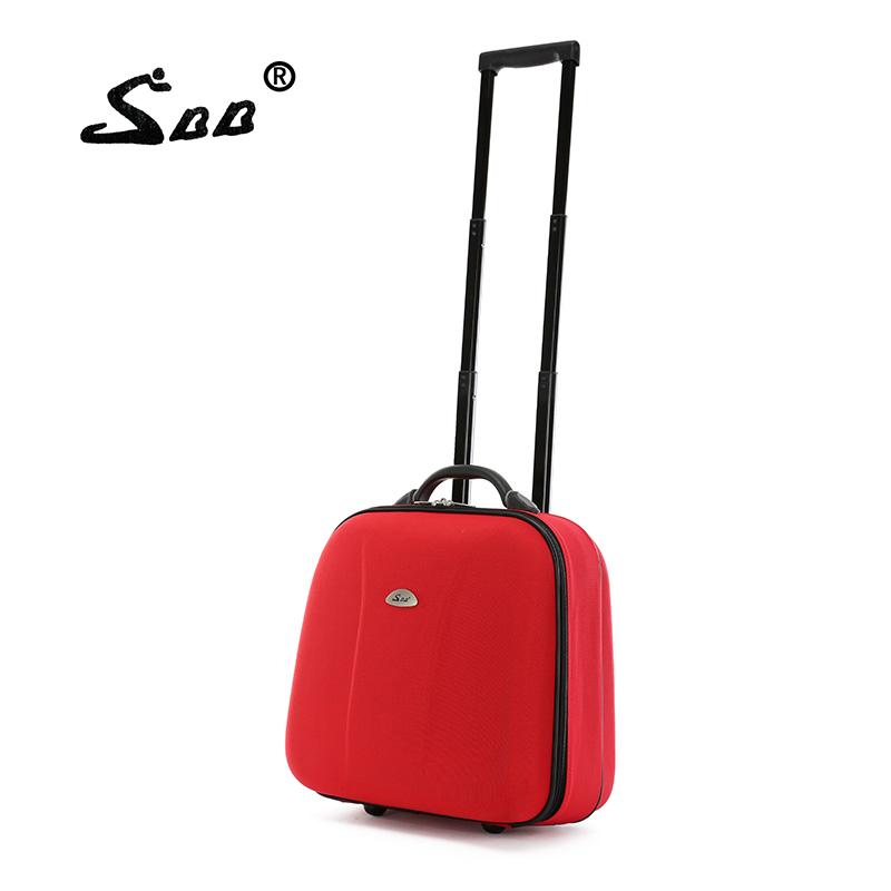 韩国登机箱 16寸拉杆箱单向轮男牛津布小旅行箱包女小行李箱子