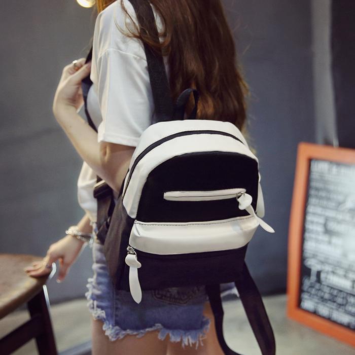 Япония и Южная Корея простой холст рюкзак девушка корейской версии потоков институт Ветер учащихся средней школы в сплошной цвет женский досуг Путешествия сумка рюкзак