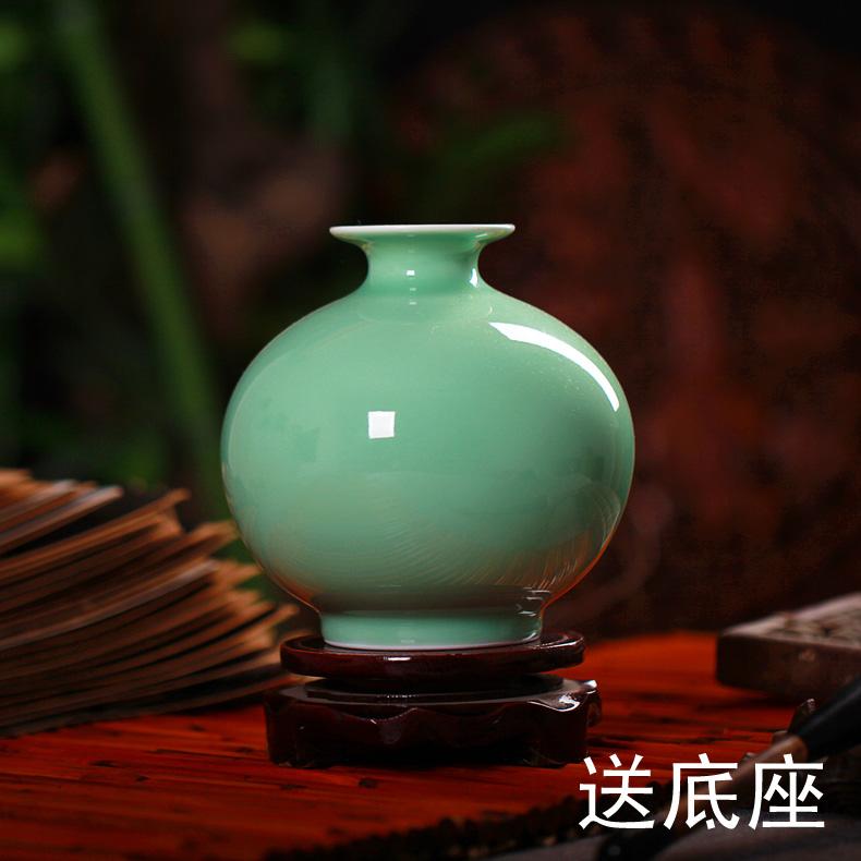 景德鎮陶瓷器 仿古影青釉花瓶 古典 客廳家居裝飾品工藝品擺件