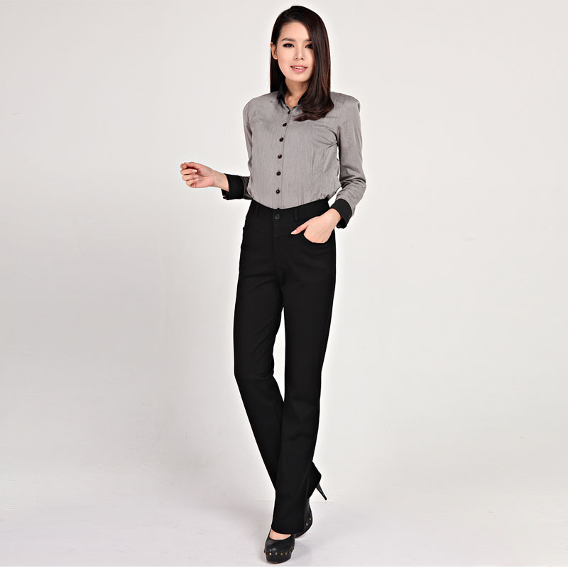 Spring and autumn new spring and autumn elastic wrap up large size slim fit small pants formal business commuter pants