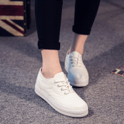2015 sneakers female Korean student flashes low pure leisure shoes, thick-soled platform shoes, thin straps, white shoes