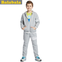 Bala bala balabala boys long suit movement with hood children suit the new spring 2015 children's clothes