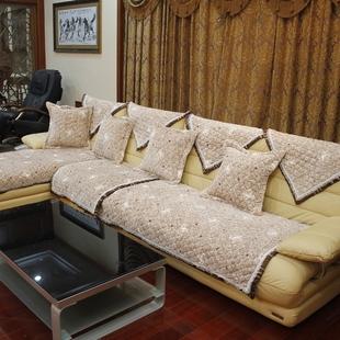 竹月阁皮沙发垫沙发布艺坐垫沙发套沙发巾飘窗垫 HF系列
