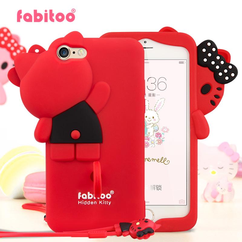 法芘兔 iphone6手机壳苹果6s女款防摔卡通创意6plus硅胶保护套