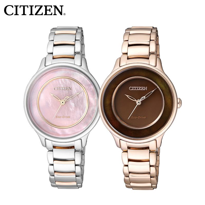 Западный железо город мягкий свет шаг может женщина наручные часы EM0384-56D/EM0382-51W