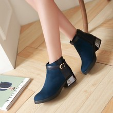 Fall 2015 New England USES simple and comfortable color matching short boots to restore ancient ways round head students female boots bag mail