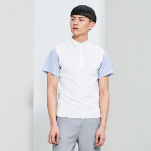 CROQUIS/速写男装专柜正品夏季新款翻领拼色潮流短袖T恤9G463001
