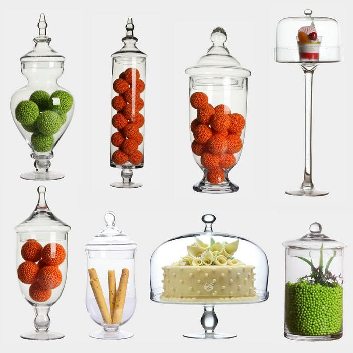客萊達歐式糖果罐婚慶展示瓶 師玻璃瓶獎杯工藝擺件透明儲物罐