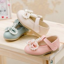 0-1-2 years old female baby autumn single shoes A two and a half years old little girl child soft-soled shoes leather shoes of the girls