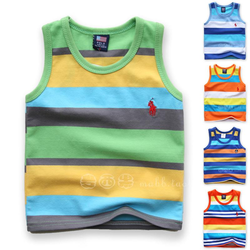 Корейский хлопка жилет в небольшой детской одежды для мальчиков лета 2015 новые летние платья детей мальчиков t рубашка без рукавов t рубашка