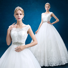 Qiao characterized by new bride shoulders lace European big yards of cultivate one's morality show thin white wedding wedding's wedding dress