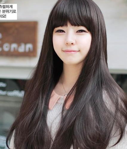 Package post wig female long curly hair fluffy realistic face long straight hair realistic set high temperature silk micro roll up bangs foreign trade