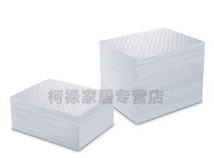 柯洛工业吸油棉片海事吸油毡吸油棉布吸附棉片复合压点100片/箱