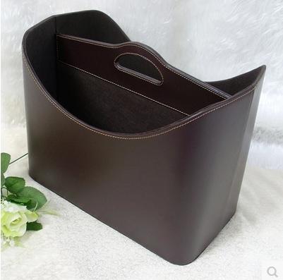 欧式创意多用途创意皮革提手收纳篮筐篓杂物时尚礼品家居收纳包邮