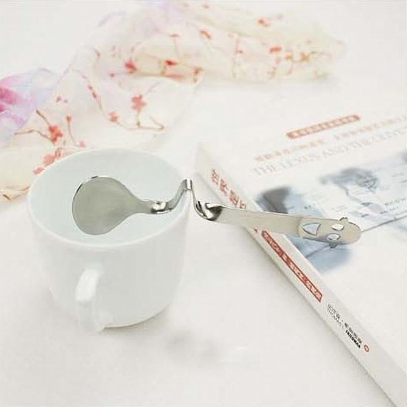 Мыть музыка ученый творческий милый утолщённый из нержавеющей стали улыбка твист песня ложка размешивать ложка кофе ложка могут быть связаны чашка прилегает к
