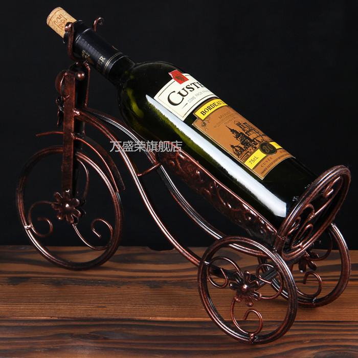 Континентальный современный простой гостиная вино полка украшение домой декоративный статья вино полка творческий железо вино качели установить
