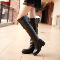 New autumn over the knee boots boots boots female Korean boots winter boots with long thin legs flat high boots