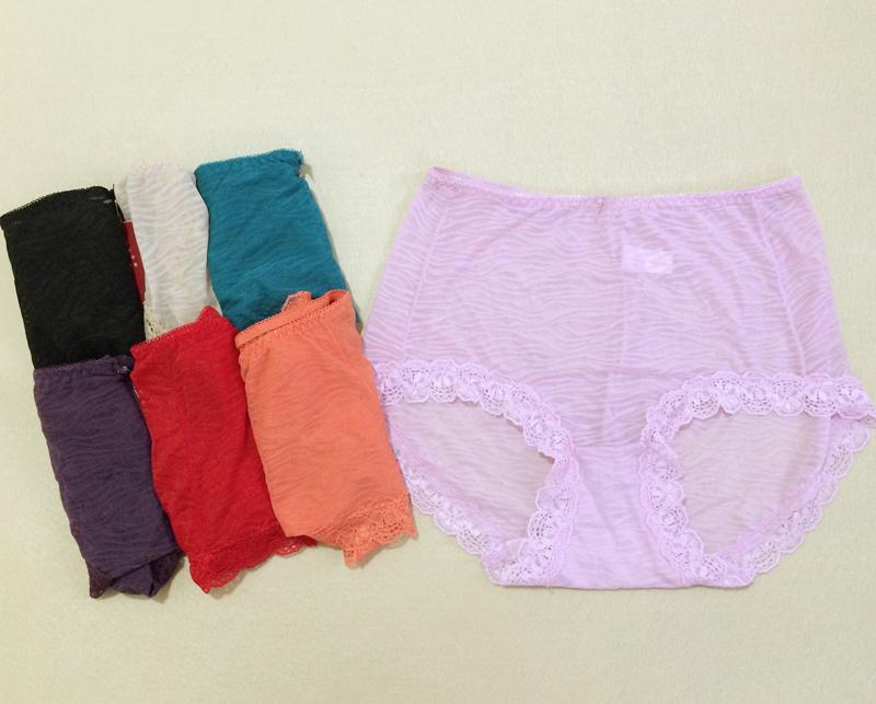 新品 华宝莉女士三角裤内裤蕾丝性感奢华6281中高腰速干柔软透气