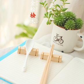 日本桧木筷子架置物筷子托 日常餐饮用具 厨房用品 实木制作 特价