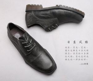 日系复古马丁鞋男低帮真皮潮流工装鞋男圆头舒适时尚休闲男鞋