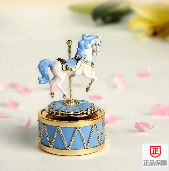 Carousel music box beautiful romantic ornaments give daughter birthday gift decorate childrens room decorations