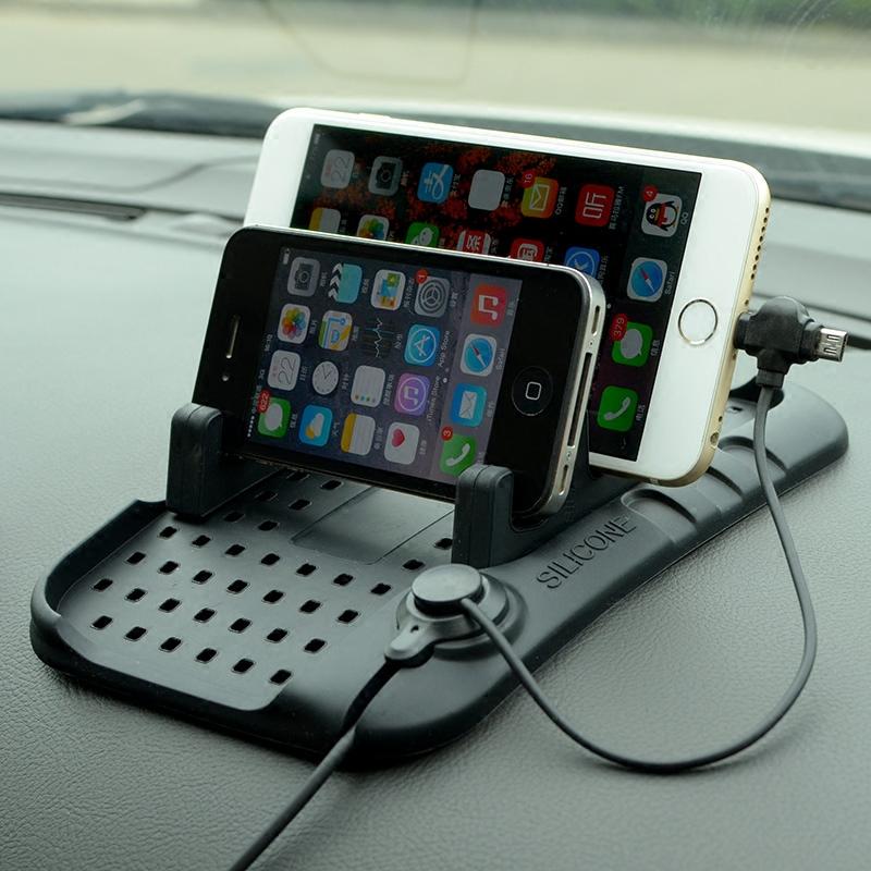 汽車多 防滑墊中控儀表台矽膠車載手機支架導航磁吸充電手機座