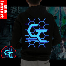 Luminous sin Wang Guanwei garments In the autumn of anime coat New hip hop zipper hooded jacket Men and women with