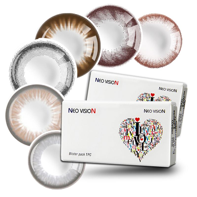 韩国NEO进口混血美瞳大小直径巧克力小黑环年抛彩色隐形眼镜XA