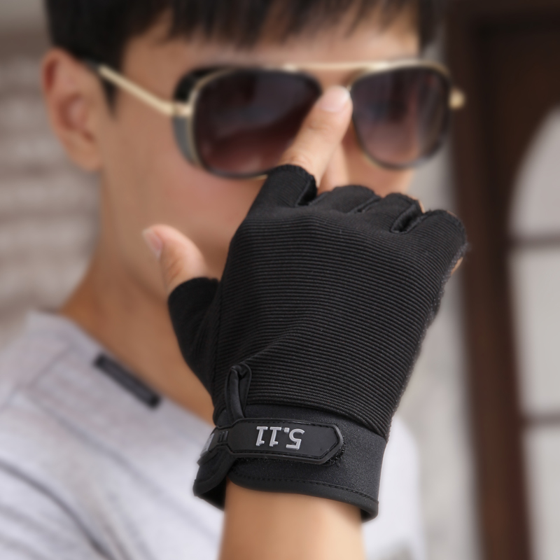 Мужские перчатки без пальцев Артикул 37617767058