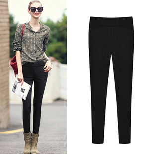 Plus velvet leggings big yards fat mm2017 new autumn and winter was thin 200 pounds of loose pants girls thick thighs