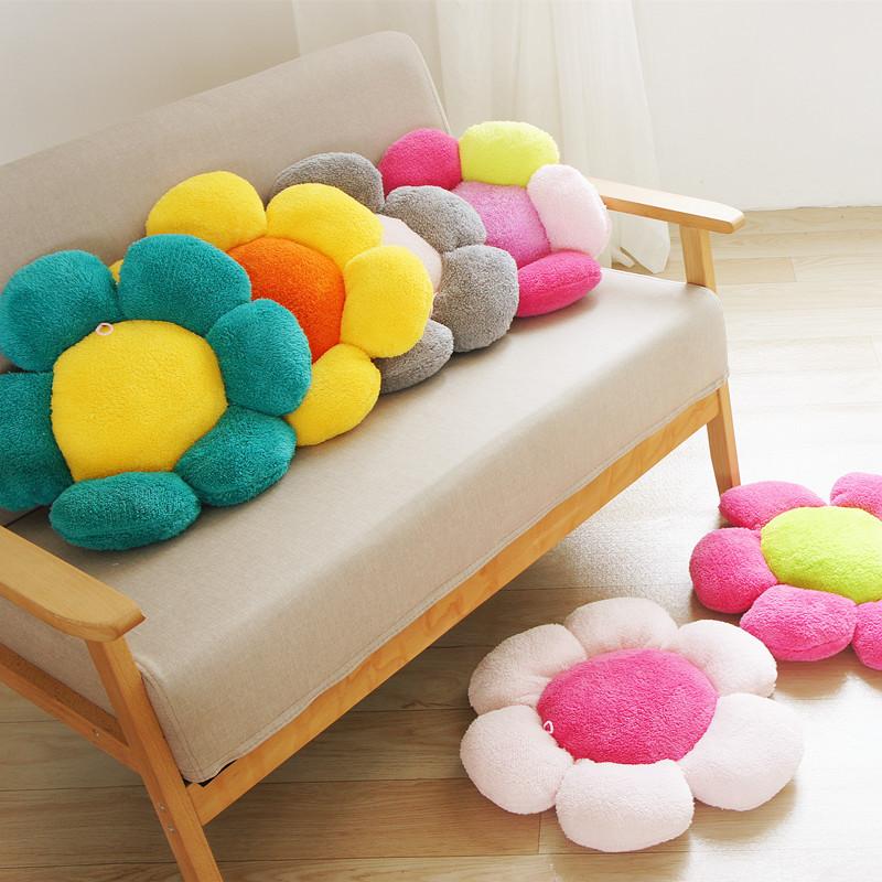辦公室沙發墊子加厚椅墊卡通座墊學生椅子坐墊飄窗墊花朵坐墊凳子